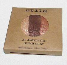Stila Bronze Glow Full Size Refill Baked Eye Shadow Trio Beautiful Shimmer Boxed