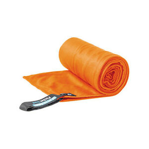 MED ORANGE Sea to Summit Pocket Towel Microfibre Fast Drying Light Weight