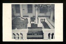 Judaica postcard Touro Synagogue, Newport, Rhode Island RI Sealed Tunnel