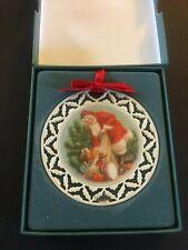 Lenox Portrait Collection Ornament ~ Santa's Visit ~ Porcelain Pierced 1989 ~Iob