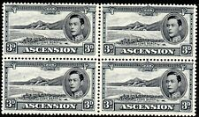 More details for 1940 ascention sg 42a 3d black and grey unmounted mint block of 4