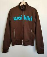 Hollister Mens Track Jacket Zip Brown Logo Island Sport Waikiki Polyester Size S