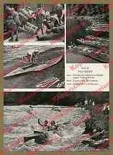 Wasserwandern Natur Wildwasser Klepper Faltboot Transport Eisenbahn DB Zug 1956