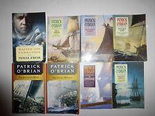 LOT OF 8 PATRICK O'BRIAN – AUBREY – MATURIN SERIES BOOKS PB