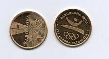 Medalla JUEGOS OLIMPICOS BARCELONA 92 ( bañada en Oro 22 Kilates )