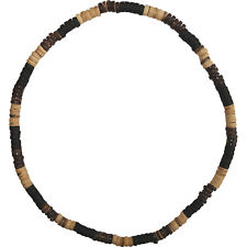 Brown Wood Beaded Necklace Chain Mens Womens Ladies Girls Boys Wooden Jewellery
