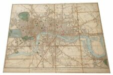 Cary's New Plan of London & its Vicinity, 1830, antique map