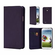 Samsung Galaxy S4 Leather Wallet Case Designed by 32nd Classic Real Leather