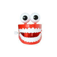 Wind-up Chattering Chomping Teeth with Eyes Halloween Toy Novelty Party Favors