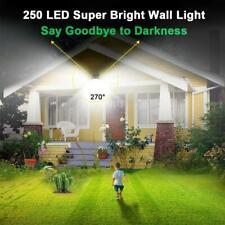 250 LED Solar Power Wall Lights PIR Motion Sensor Outdoor Garden Lamp H0W1