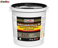 Balkonabdichtung Dichtschlämme 2K Abdichtung Terrasse Balkone Bad 20 kg AKTION !