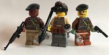 original LEGO parts 3 SPECIAL FORCES SOLDIERS + CUSTOM weapon unit 3