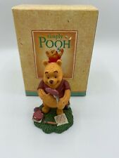 "Disney SIMPLY POOH ""WOBBLY HEARTS ARE JUST AS TRUE"" FIGURINE"