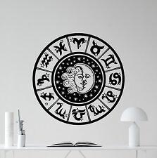Zodiac Signs Wall Decal Sun Moon Sky Stars Vinyl Sticker Art Decor Mural 26hor
