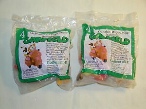 Vintage McDonalds Garfield & Odie Happy Meal Lot of 2 Toys 1988 Mint Sealed