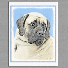 6 English Mastiff Dog Fawn Blank Art Note Greeting Cards