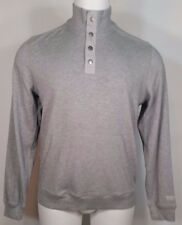 Brooks Brothers 1818 Gray Button Snap Sweatshirt pullover with pouch Mens Medium