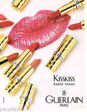 PUBLICITE ADVERTISING 055  1996  GUERLAIN rouges à lèvres KISSKISS