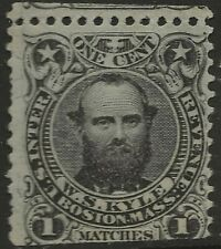 RO 122b  WS KYLE1 CENT  MATCH AND MEDICINE STAMP--61