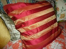 Raymond Waites Windrdes Red Stripe Gold (1) Euro Pillow Sham 26 X 26