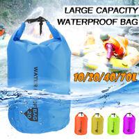 10/20/40/70L Sac étanche Storage Dry Sack Randonnée Camping Kayaking Pêche