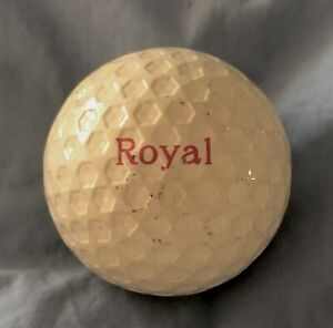 Vintage Royal Hexagon Pattern Golf Ball: Unusual Golf Collectable