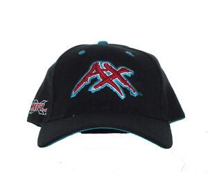 XFL - Memphis Maniax - Vintage Team Logo and XFL Logo on Black Adjustable Hat