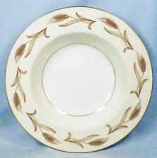 Noritake Laura Soup Bowl Rimmed 5089 Porcelain Gold Wheat Cream Band Vintage