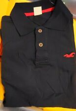 New Hollister by Abercrombie & Fitch Men Short Sleeve Polo Tee T-shirt Navy L