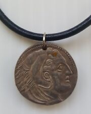 Alexander III The Great Greek Empire Fantasy Coin Pendant Handmade Necklace