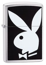 Playboy Zippo Lighter, Black, Genuine Windproof