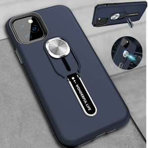 For iPhone 12 11 Pro Max XR 8 7 Hybrid Magnetic Kickstand Ring Holder Case Cover