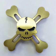 Skull Fidget Spinner Fidget Toy EDC Hand Finger Desk Focus Torqbar Metal Gyro