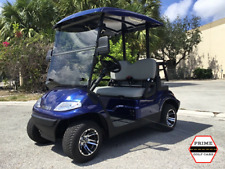 NAVY BLUE 2 PASSENGER SEAT ADVANCED EV GOLF CART FAST LUXURY 24 MPH CAR