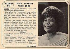 1967 TV AD~SINGER ELLA FITZGERALD IS ON THE CAROL BURNETT SHOW~CHRISTMAS EVE