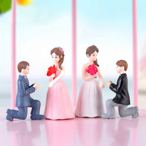 Romantic Couple Figures Miniature Home Decor Girls Valentine Gift Free Shipping