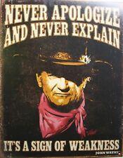 Vintage Replica Tin Metal Sign John Wayne legend cowboy western star movie 2013