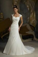 New Stock White/ivory Wedding dress Bridal Gown Stock size 6-8-10-12-14-16-18