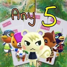 5X PACK ANIMAL CROSSING AMIIBO CARDS