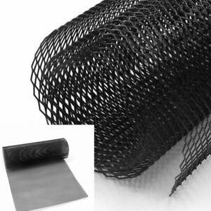 3x6mm Black Grill Mesh Aluminium Alloy Car Bumper Vent Metal Rhombic Grille Net