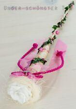 6-tlg. Tischdekoration pink zur Hochzeit Taufe Kommunion Konfirmation Tischdeko