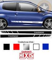 2 X BANDES BAS DE CAISSE POUR RENAULT TWINGO SPORT AUTOCOLLANT STICKER BD573-5