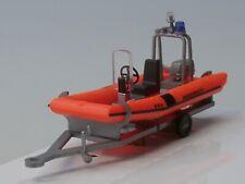 Busch BRK Wasserwacht - Schlauch-Boot mit Motor auf Trailer - 59957 - 1:87