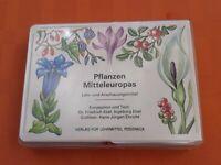 DDR Spielkarten Pflanzen Mitteleuropas in  Verpackung wenig bespielt Lehrreich