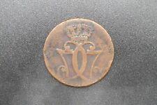 Pièce Danemark, 1 Skilling danske ,K M, 1771 en bronze