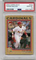 ⚾RARE⚾ 2004 Topps GOLD #324 Cardinals Yadier Molina PSA 10 GEM MINT # 1271/2004