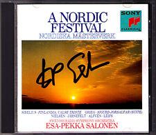 Esa-Pekka SALONEN Signiert A NORDIC FESTIVAL Alfven Grieg Nielsen Leifs Sibelius