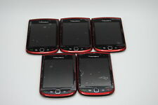 Lot of 5 OEM Blackberry Torch 9800 RED Full front housing lcd digitizer Used