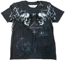 Amplified Saint & sinner Holy Skull pedrería estrella de rock Desinger VIP t-shirt G. XL/XXL