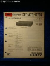 Sony Service Manual SEQ A70 / D707 Graphic Equalizer  (#0880)